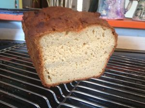 an internal view of gluten-free bread loaf