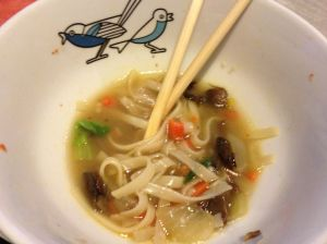 half eaten noodles